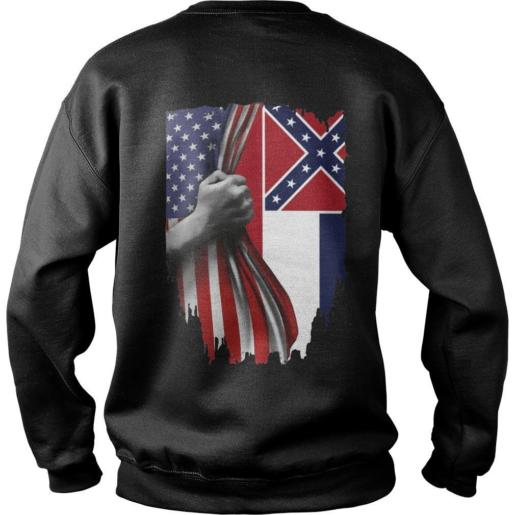 Mississippi And American Flag Sweater