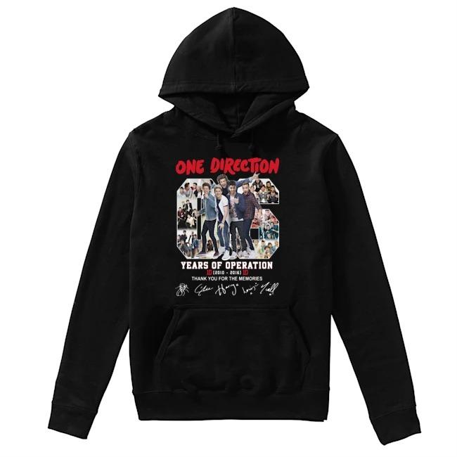 One Direction 06 Years Of Operation Thank You For The Memories Hoodie