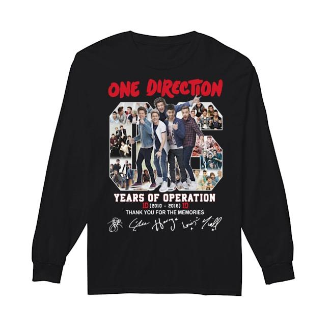 One Direction 06 Years Of Operation Thank You For The Memories Longsleeve