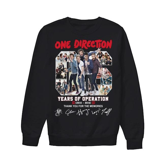 One Direction 06 Years Of Operation Thank You For The Memories Sweater