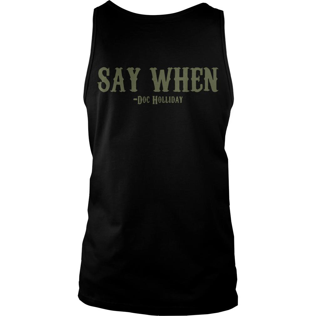 Skull I'm Your Huckleberry Say When Doc Holliday Tank Top