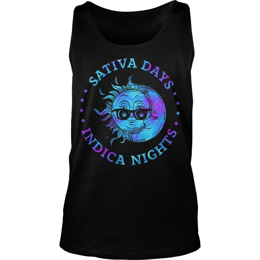 Sun And Moon Sativa Days Indica Nights Tank Top