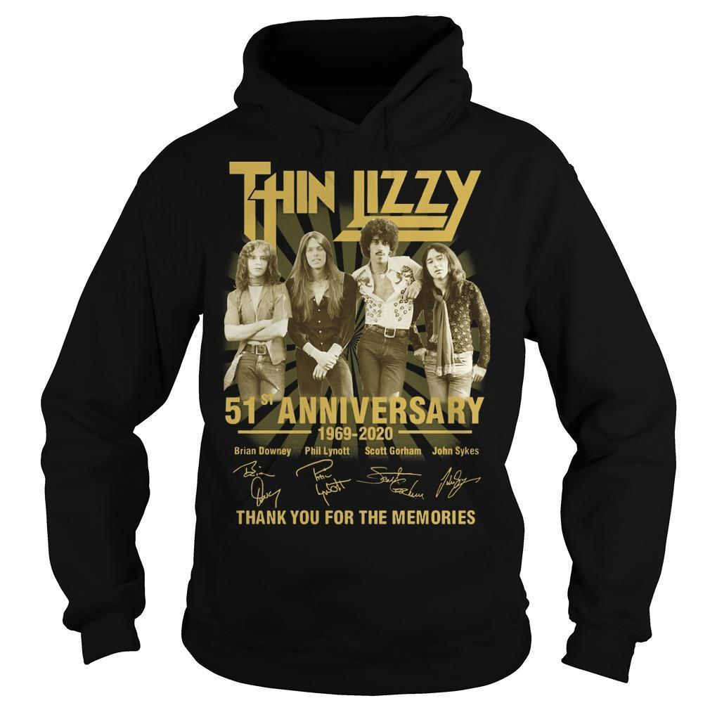 Thin Lizzy 51st Anniversary Thank You For The Memories Hoodie