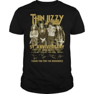 Thin Lizzy 51st Anniversary Thank You For The Memories Shirt