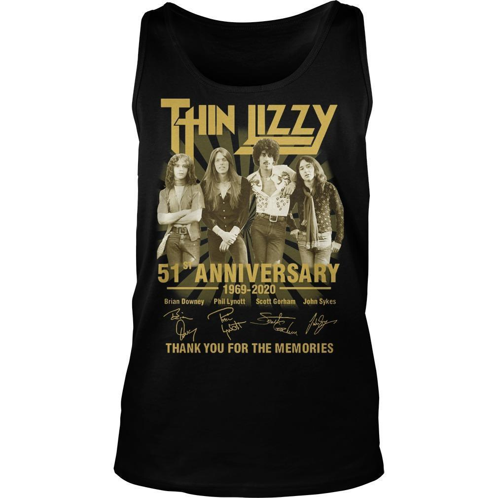 Thin Lizzy 51st Anniversary Thank You For The Memories Tank Top