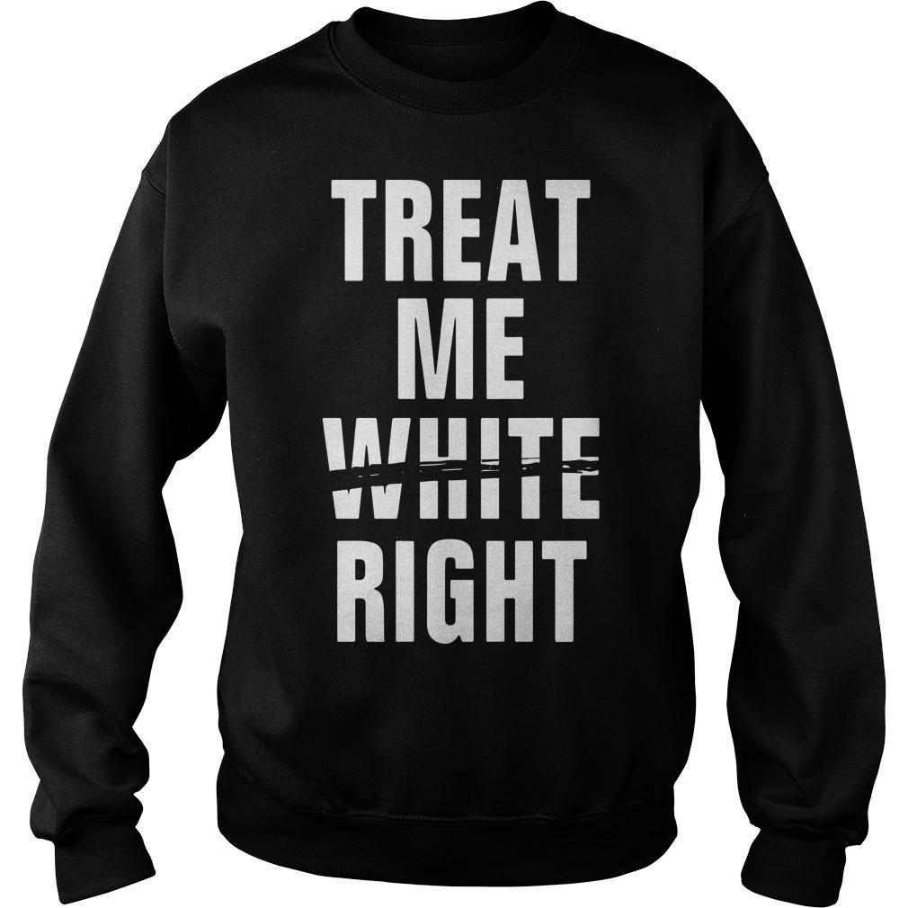 Treat Me White Right Sweater