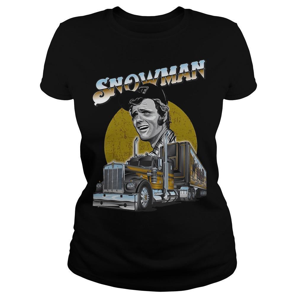 Trucker Snowman Longsleeve