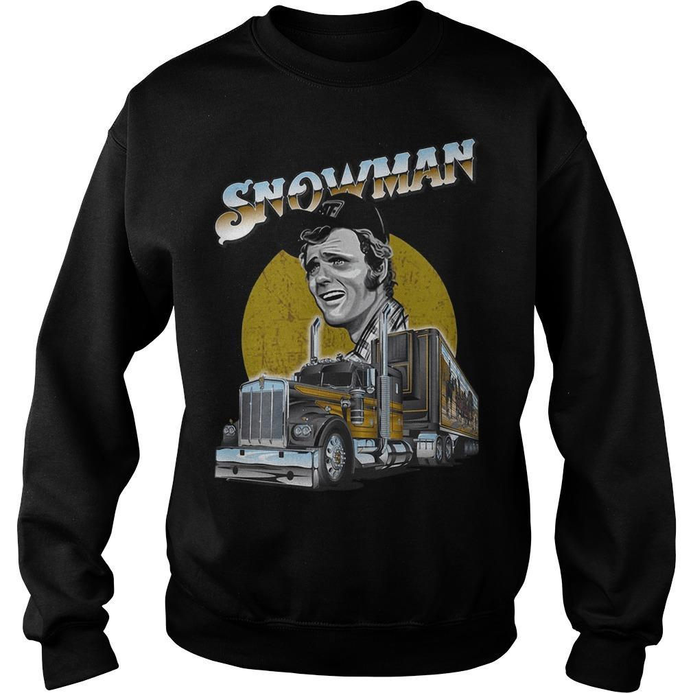 Trucker Snowman Sweater
