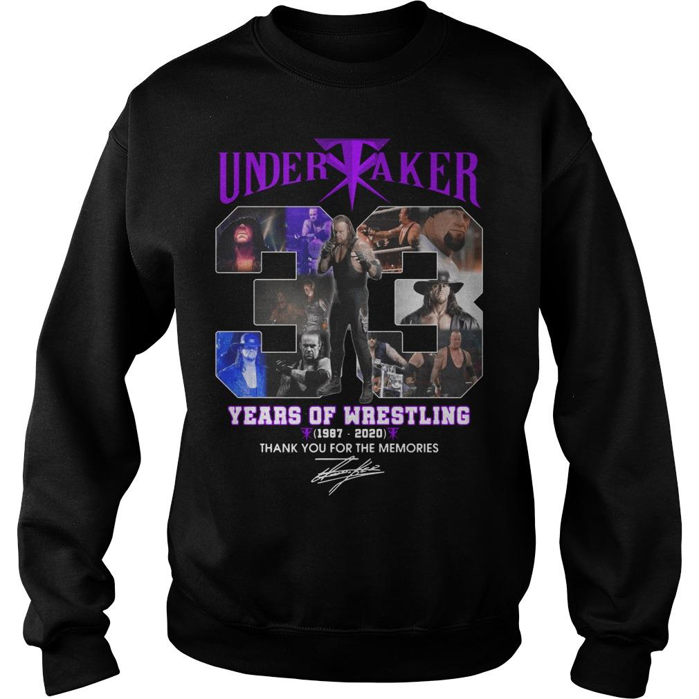 Undertaker 33 Years Of Wrestling Thank You For The Memories Sweater