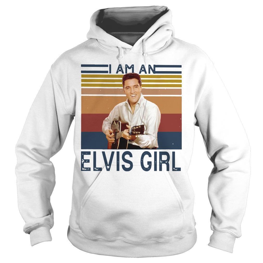 Vintage I Am An Elvis Girl Hoodie