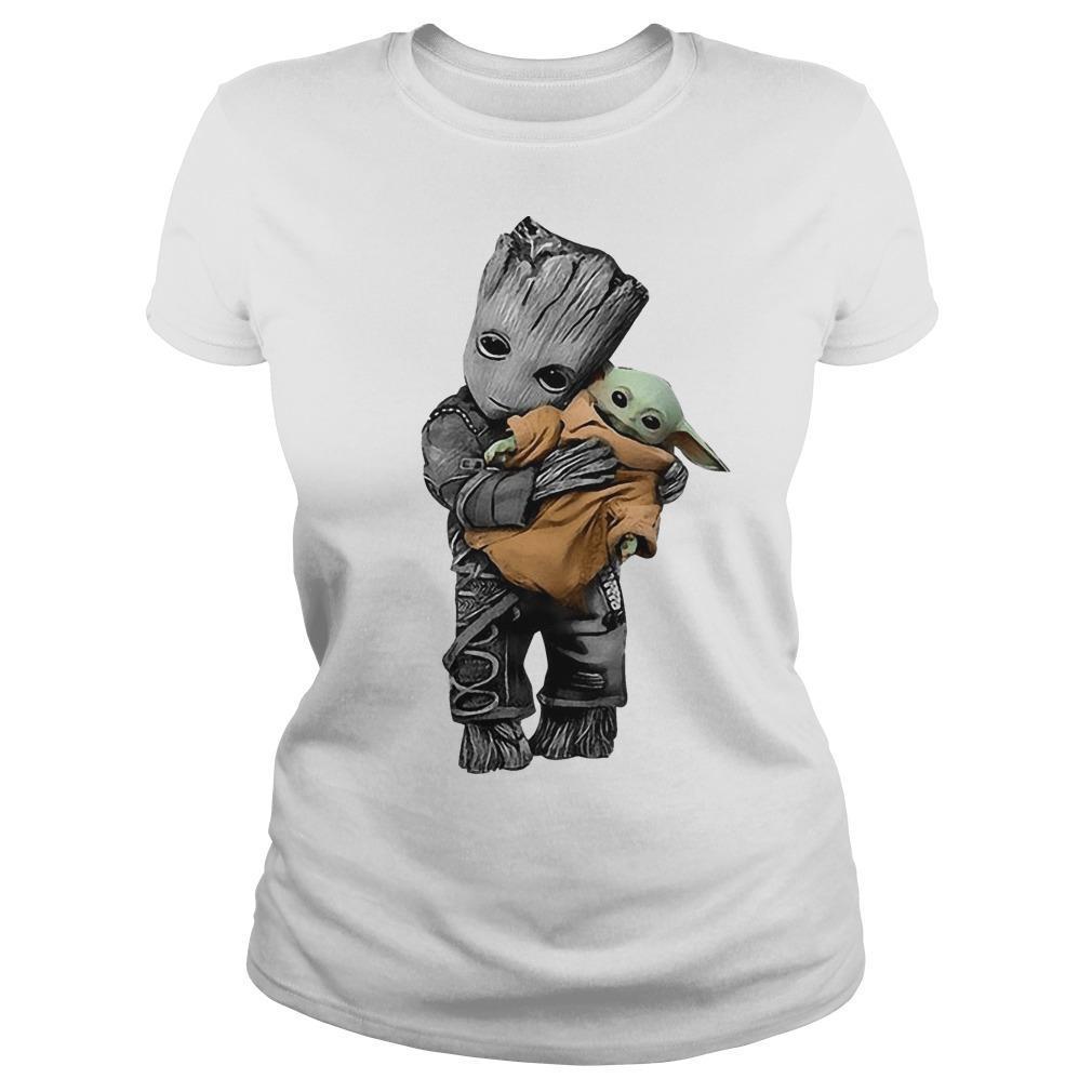 Baby Groot Hugging Baby Yoda Longsleeve