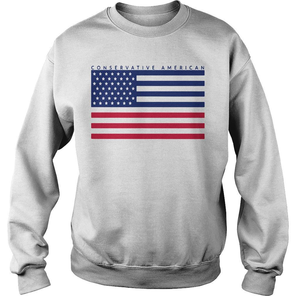 Conservative American Flag Sweater