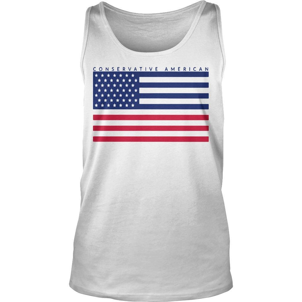 Conservative American Flag Tank Top