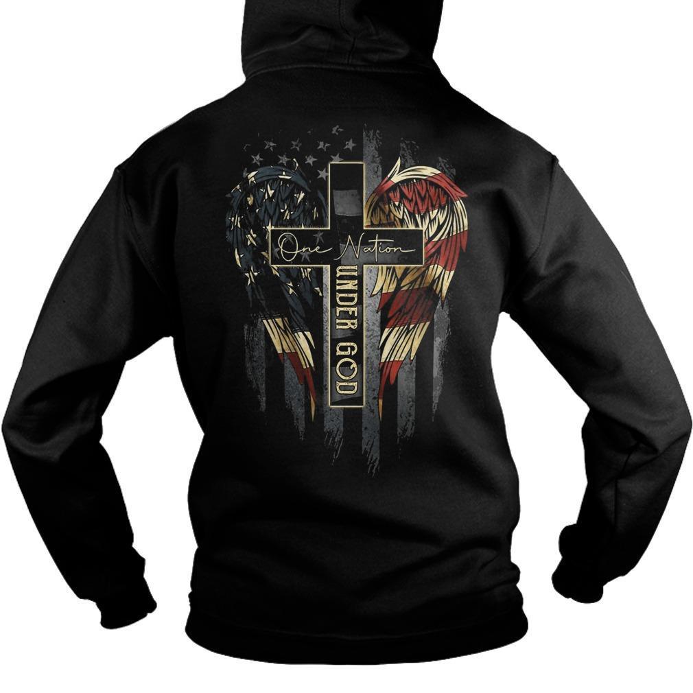 Faith Hope Love One Nation Under God Hoodie