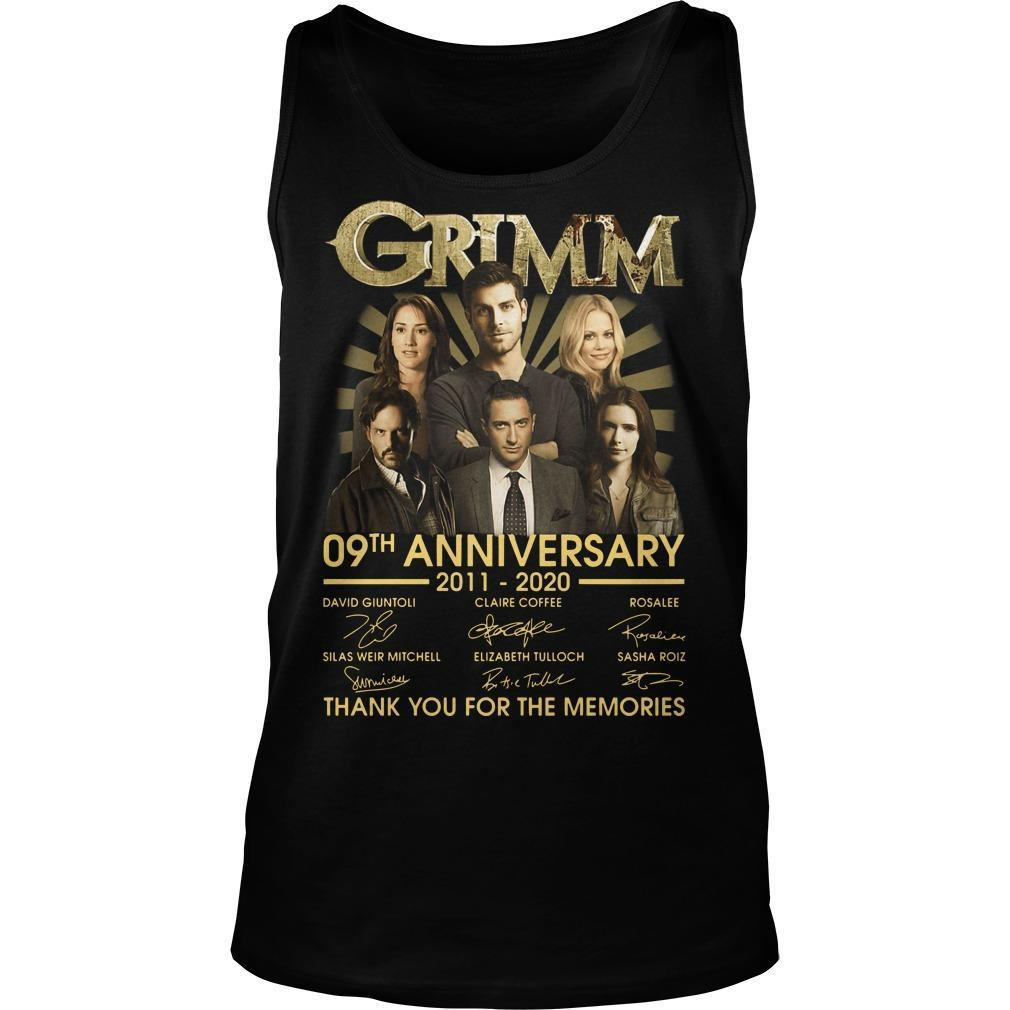 Grimm 09th Anniversary Thank You For The Memories Tank Top