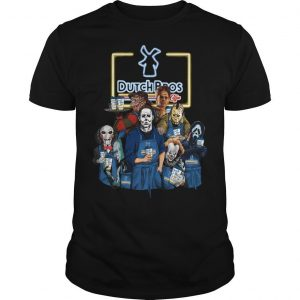 Halloween Horror Characters Dutch Bros Shirt