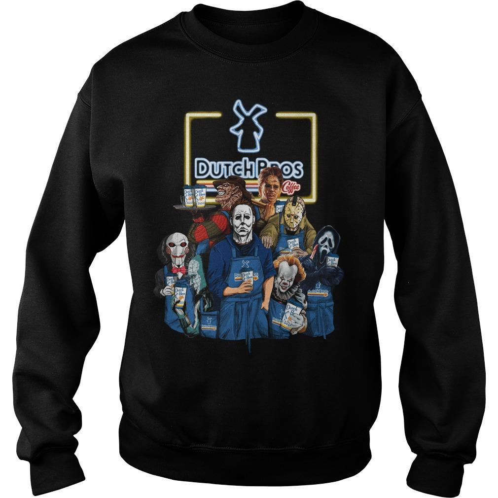 Halloween Horror Characters Dutch Bros Sweater