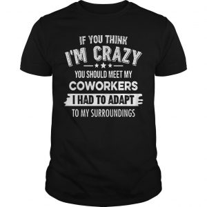 If You Think I'm Crazy You Should Meet My Coworkers I Had To Adapt Shirt