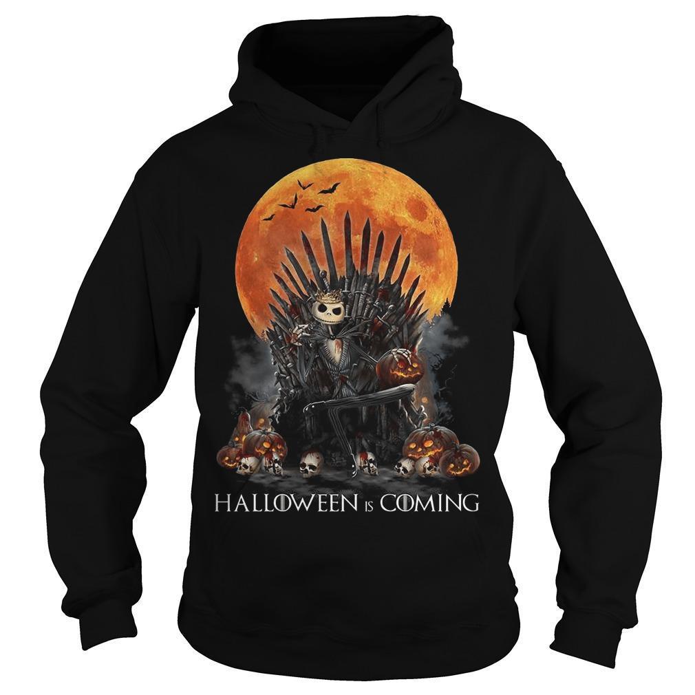 Iron Throne Jack Skellington Halloween Is Coming Hoodie