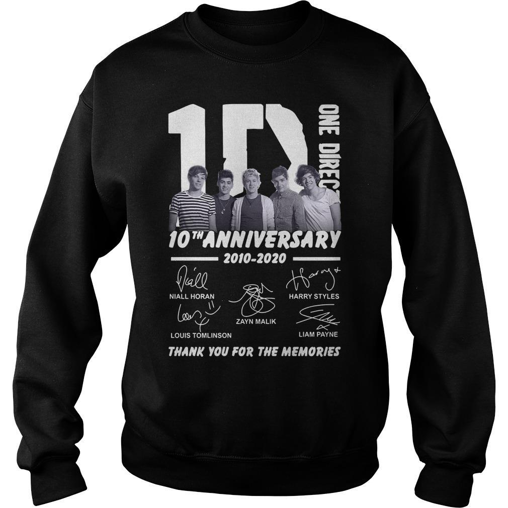 One Direction 10th Anniversary Thank You For The Memories Sweater