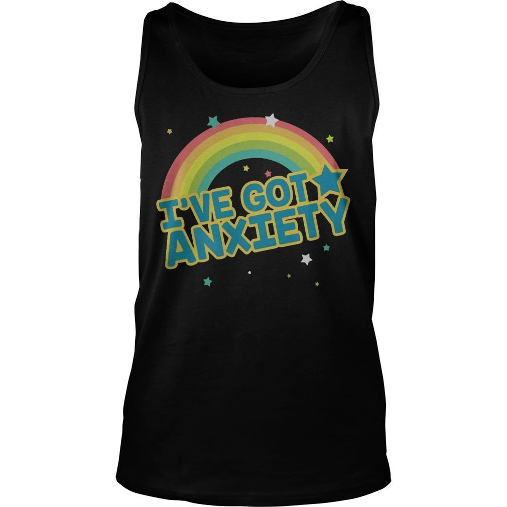 Rainbow I've Got Anxiety Tank Top