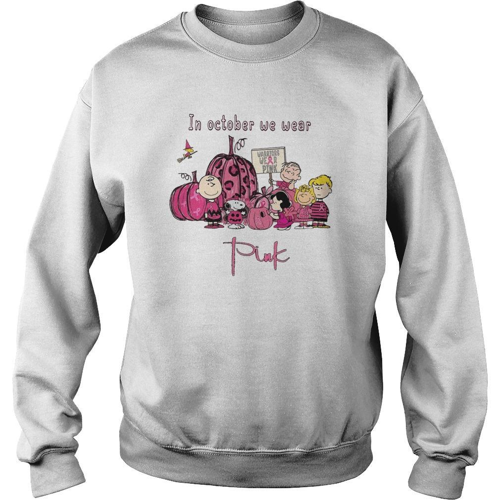 The Peanuts In October We Wear Pink Sweater