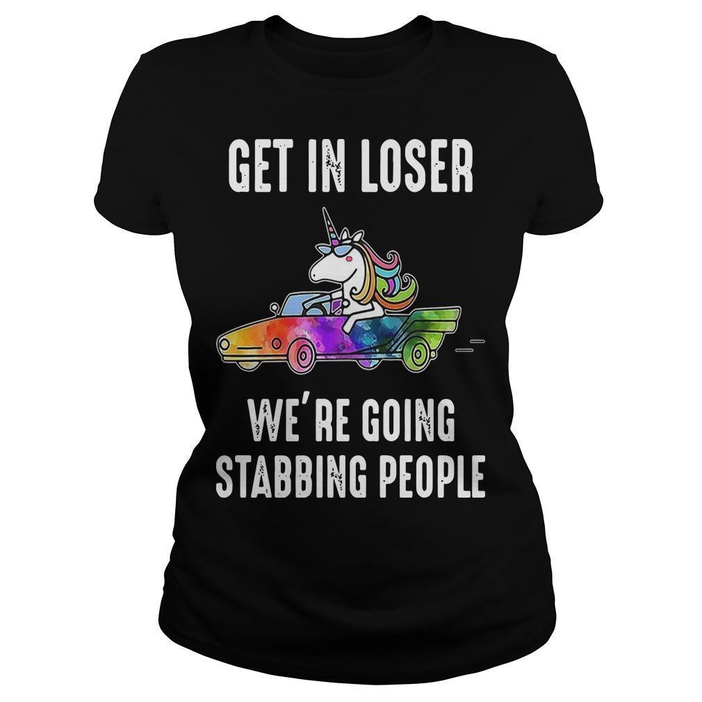 Unicorn Get In Loser We're Going Stabbing People Longsleeve