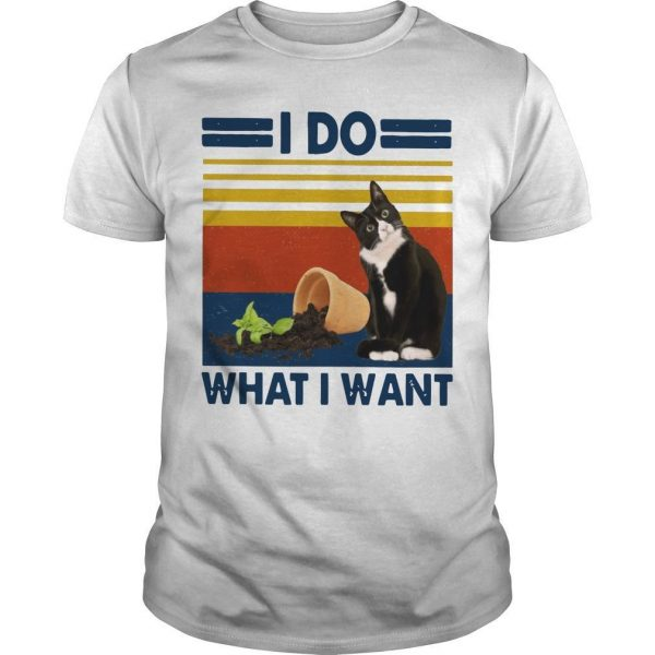 Vintage Cat I Do What I Want Shirt