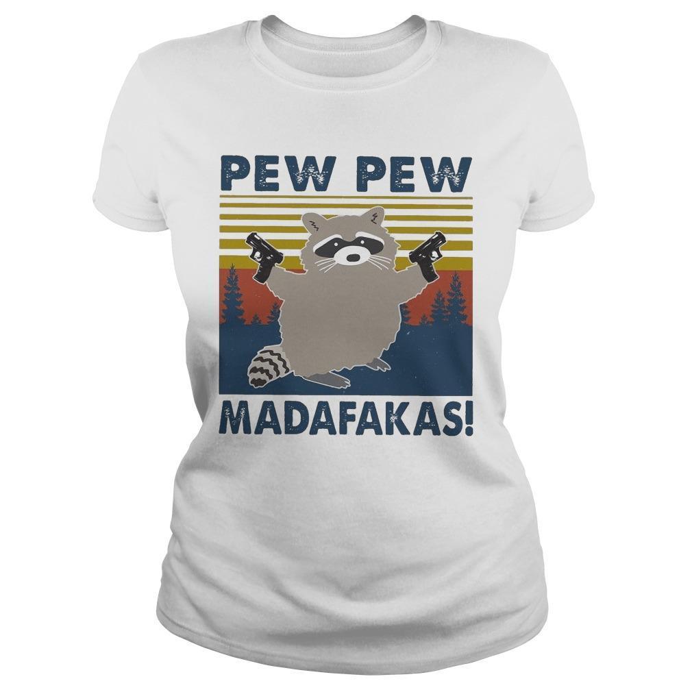 Vintage Raccoon Pew Pew Madafakas Longsleeve