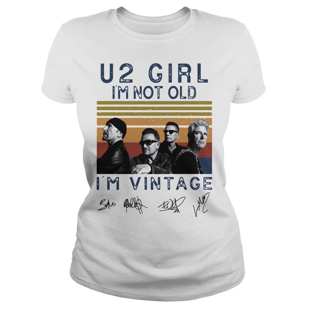 Vintage U2 Girl I'm Not Old I'm Vintage Longsleeve