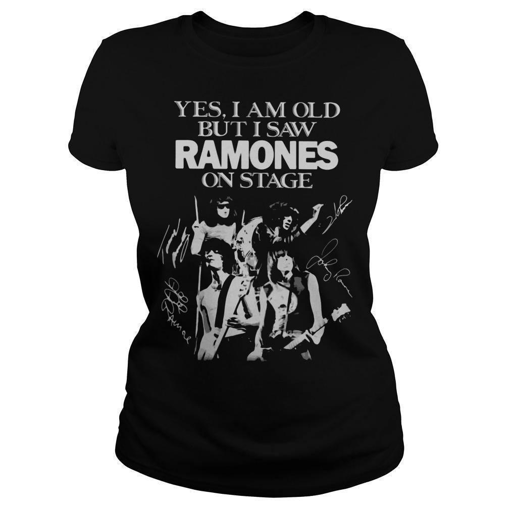 Yes I Am Old But I Saw Ramones On Stage Longsleeve