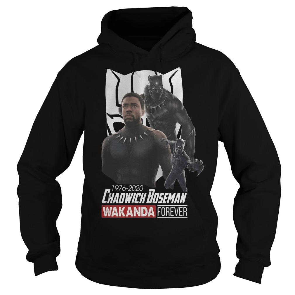 1976 2020 Chadwick Boseman Wakanda Forever Hoodie