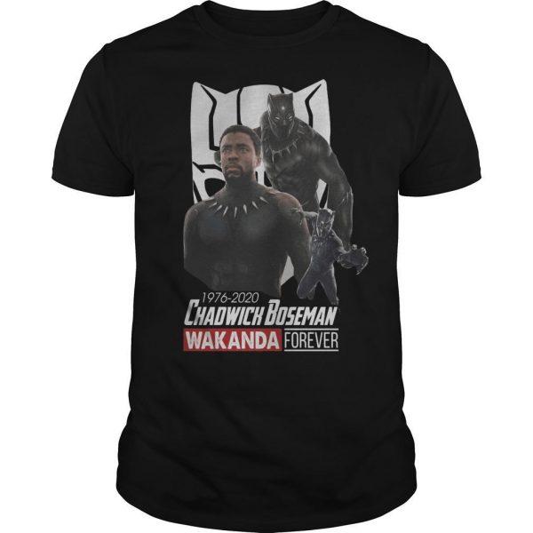 1976 2020 Chadwick Boseman Wakanda Forever Shirt