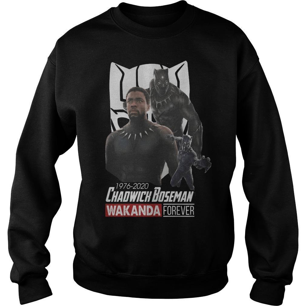 1976 2020 Chadwick Boseman Wakanda Forever Sweater