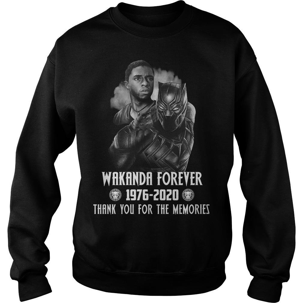 Black Panther Wakanda Forever Thank You For The Memories Sweater