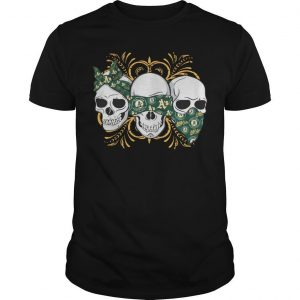 Three Skull Oakland Athletics Shirt