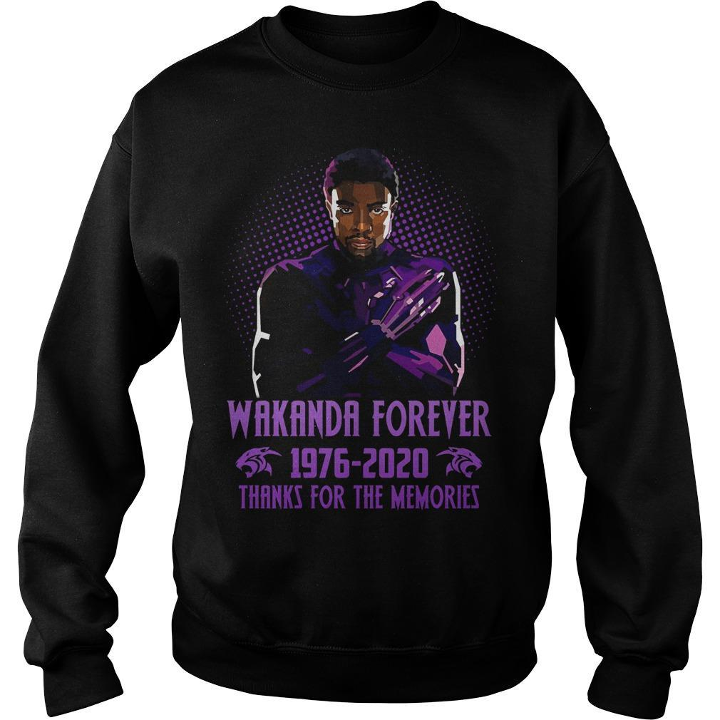 Wakanda Forever 1976 2020 Thanks For The Memories Sweater
