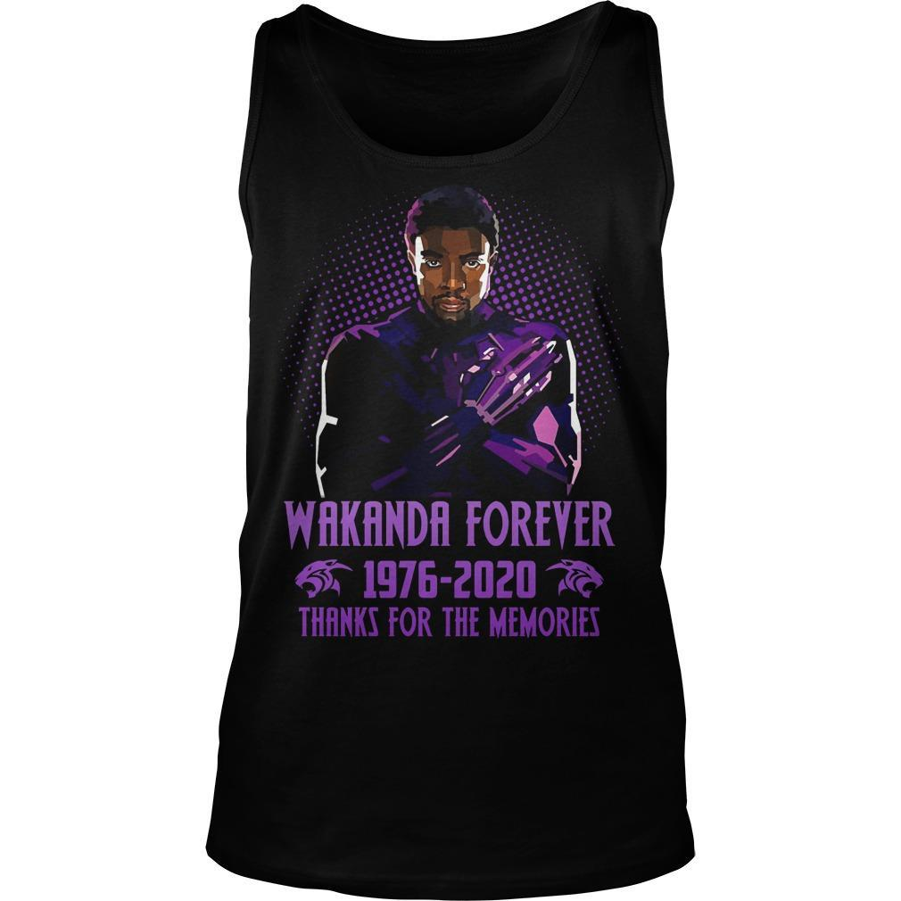 Wakanda Forever 1976 2020 Thanks For The Memories Tank Top