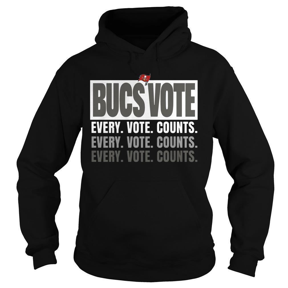 Bucs Vote Every Vote Counts Hoodie