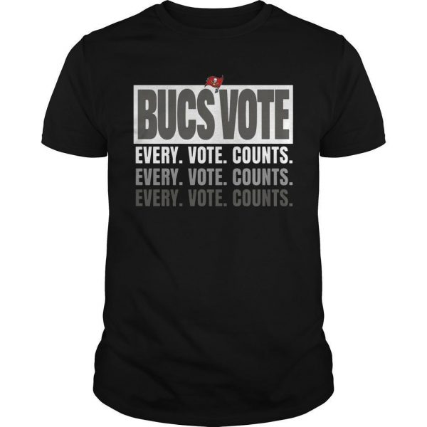 Bucs Vote Every Vote Counts Shirt