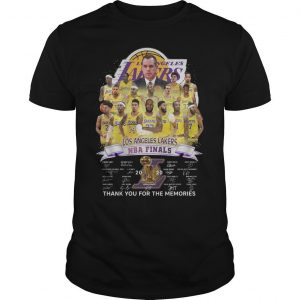 Los Angeles Lakers Nba Finals Thank You For The Memories Shirt