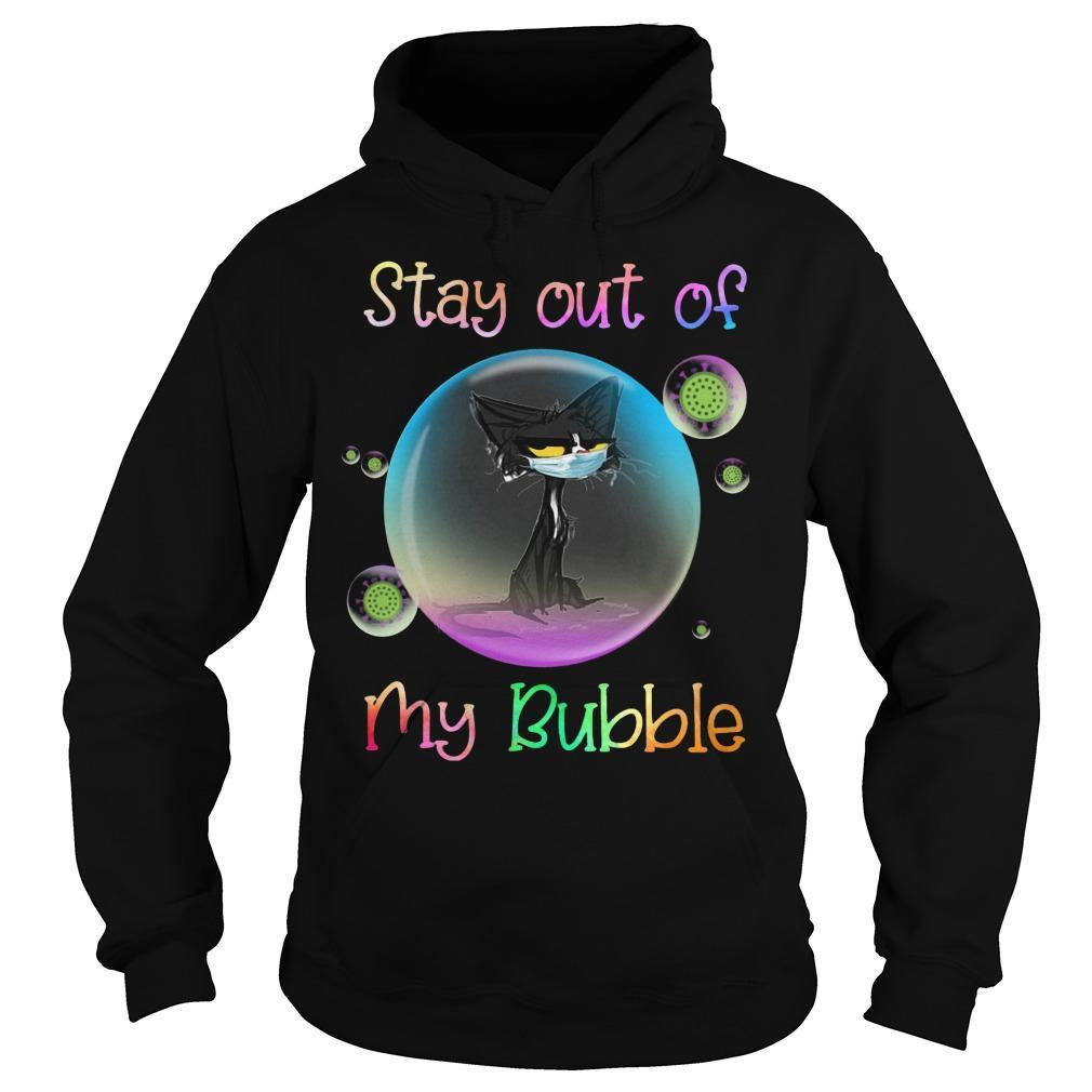 Black Cat Stay Out Of My Bubble Hoodie