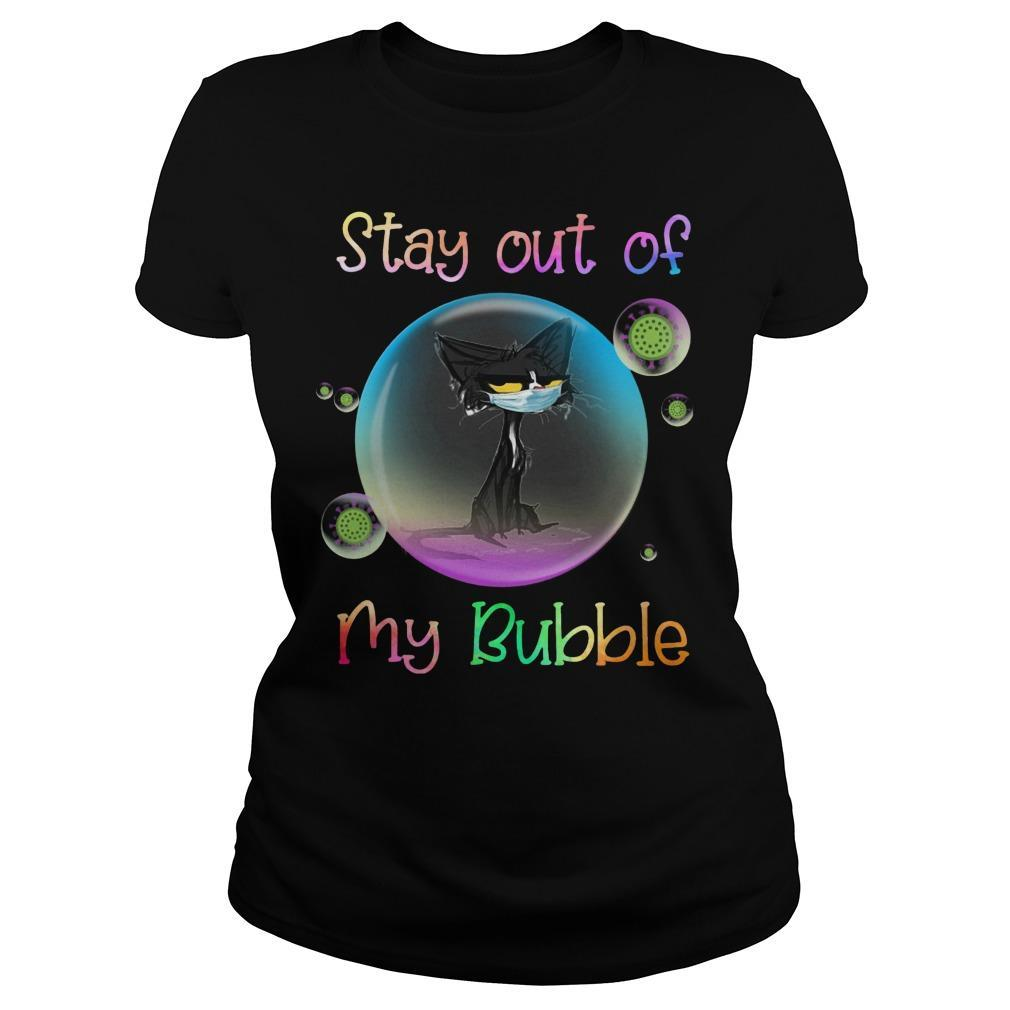 Black Cat Stay Out Of My Bubble Longsleeve
