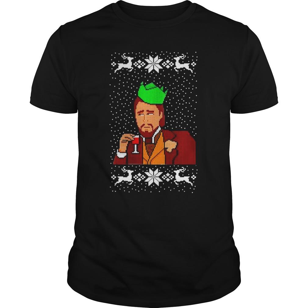 Christmas Dicaprio Drinking Longsleeve