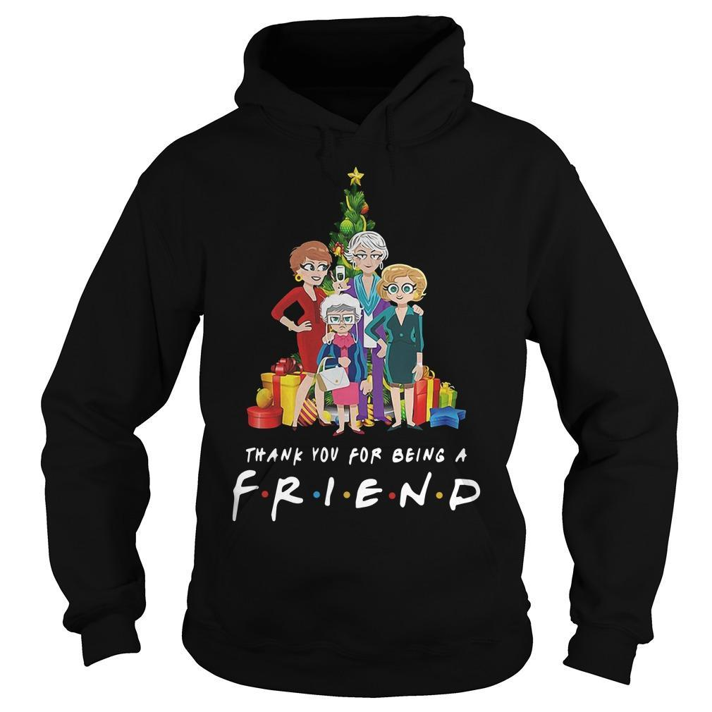 Christmas Golden Girls Thank You For Being A Friend Hoodie