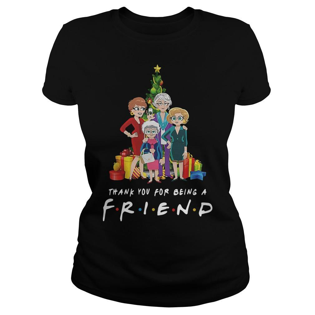 Christmas Golden Girls Thank You For Being A Friend Longsleeve
