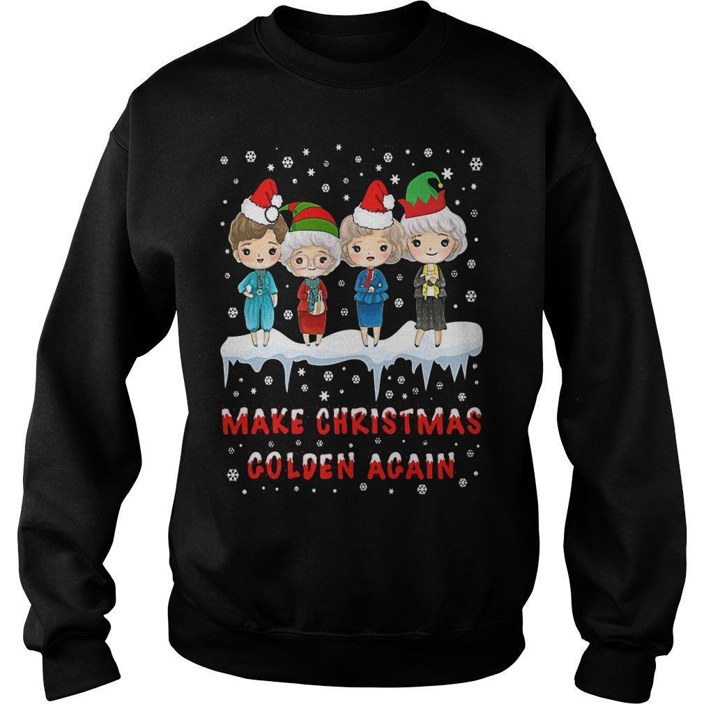 Golden Girls Make Christmas Golden Again Sweater