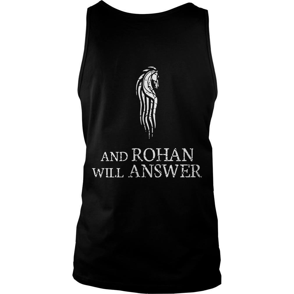 Gondor Calls For Aid And Rohan Will Answer Tank Top