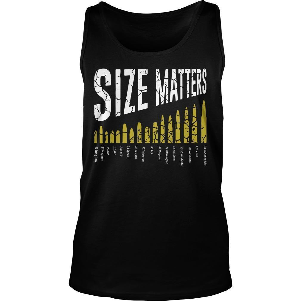 Gun Size Matters Tank Top