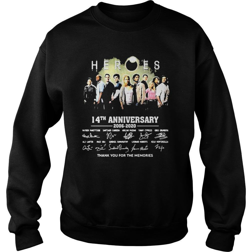 Heroes 14th Anniversary 2006 2020 Thank You For The Memories Sweater